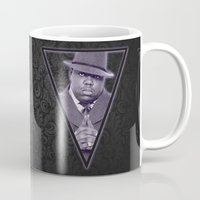 notorious big Mugs featuring *Notorious BiG* by Gold Blood
