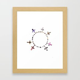 The Cross Bracelet Framed Art Print