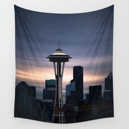 Space Needle Sunset - Seattle Nights Wall Tapestry