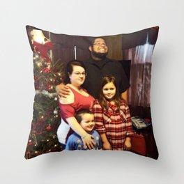 Funny Family Christmas Photo Throw Pillow