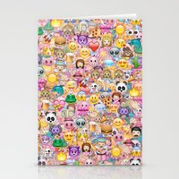 emoji Stationery Cards featuring emoji / emoticons by Marta Olga Klara