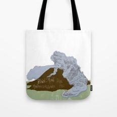 Pelean Volcanic Eruption Tote Bag