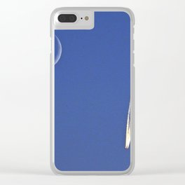 Jet and the Moon Clear iPhone Case