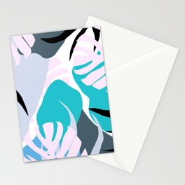 Tropical Abstract Organic Shapes Design Stationery Cards