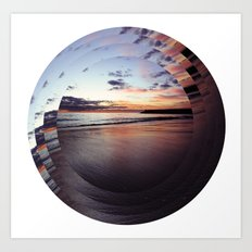 circular beach Art Print