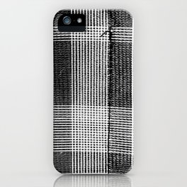 Stitched Plaid in Black and White iPhone Case
