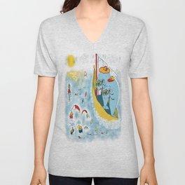 Look, honey!...the humans are migrating again!!! Unisex V-Neck
