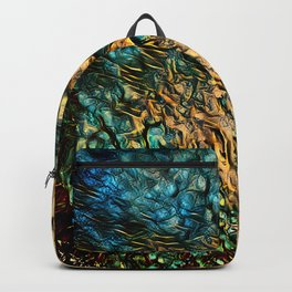 Golden Abstract 2 Backpack