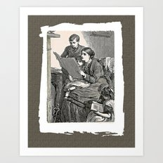 Let's Read Art Print