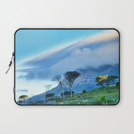 Table Mountain blanketed in cloud Laptop Sleeve