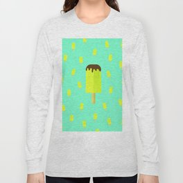Summer time ice cream popsicle Long Sleeve T-shirt