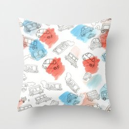 Cute Car Design Throw Pillow