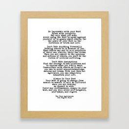 The Four Agreements #minimalist 3 Framed Art Print