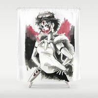 princess mononoke Shower Curtains featuring San, The Mononoke Princess.  by Juan Pablo Cortes