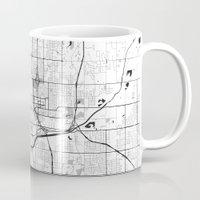 oklahoma Mugs featuring Oklahoma City Map Gray by City Art Posters