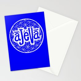 Ajeva Logo Blue Stationery Cards