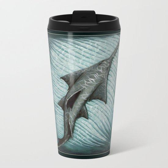 """Sawfish"" by Amber Marine ~ Acrylic Painting, (c) 2015 Metal Travel Mug"