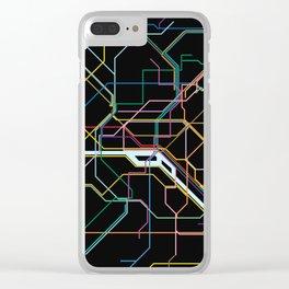 Paris Subway Map Clear iPhone Case