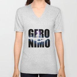 Doctor who Geronimo Unisex V-Neck
