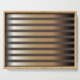 Pattern with glossy golden stripes Serving Tray