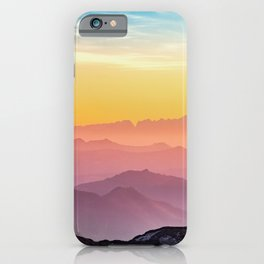 LANDSCAPE PHOTOGRAPHY OF MOUNTAINS iPhone Case