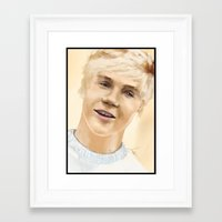 niall Framed Art Prints featuring Niall by Sayrise