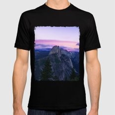 The Mountains and Purple Clouds Black MEDIUM Mens Fitted Tee