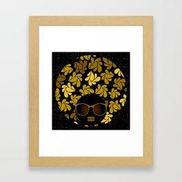 Afro Diva : Gold Framed Art Print