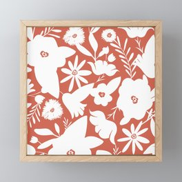 Finley Floral Terra Cotta Framed Mini Art Print