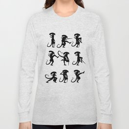 Ministry of Alien Silly Walks Long Sleeve T-shirt