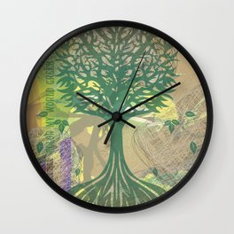 Color My World Green Wall Clock