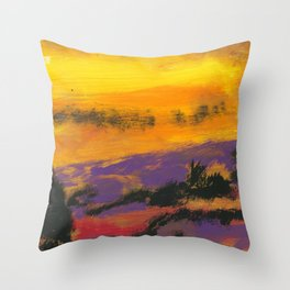 Stagecoach in the Sky Throw Pillow
