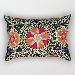 Katti Kurgan Suzani Uzbekistan Embroidery Print Rectangular Pillow