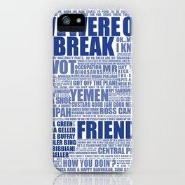 Friends (blue) iPhone Case