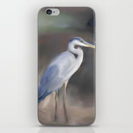 Blue Heron Paining  iPhone Skin