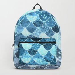 REALLY MERMAID SILVER BLUE Backpack