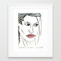angelina jolie Framed Art Prints featuring ANGELINA JOLIE by JANUARY FROST