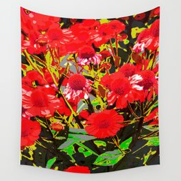 Red flowers garden Wall Tapestry