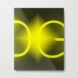 Gold Light Metal Print