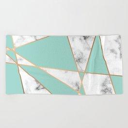 Marble Geometry 055 Beach Towel