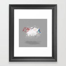 Dust-Ups: Pirate vs Ninja Framed Art Print