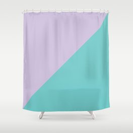 Minimalistic two color pattern Shower Curtain