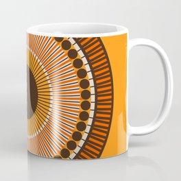 Tiger Eye Mandala Coffee Mug