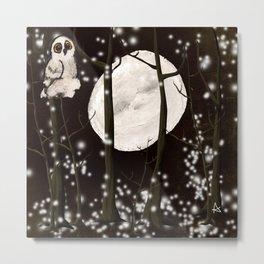 A SNOWY OWL NIGHT  Metal Print