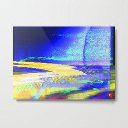 Qpop - Synthwave 2 Metal Print