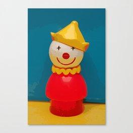 Fisher Price Clown Canvas Print