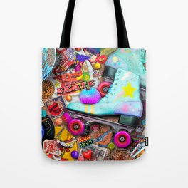 Super Retro Roller Skate Night Tote Bag