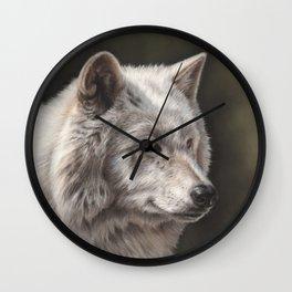 Hudson Bay Wolf Wall Clock
