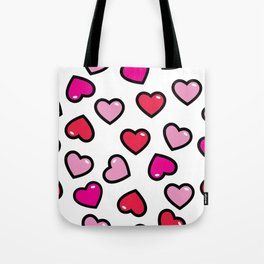 aloha red hearts Tote Bag