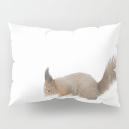 Little squirrel sitting in the snow #decor #society6 #buyart Pillow Sham